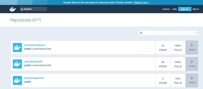 01A: Apache Zeppelin on Docker Tutorial - Docker pull from