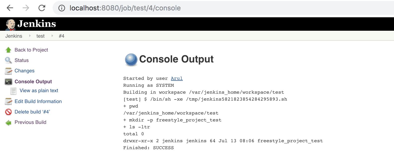 Jenkins Job - Console Output