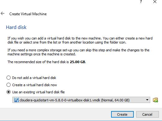 01  Installing Cloudera QuickStart with VirtualBox VM on Windows