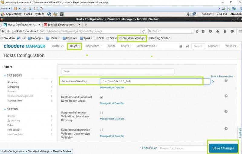 upgrading java version to jdk 8 in cloudera quickstart