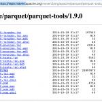 parquet-tools at Maven repository